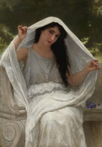 William-Adolphe Bouguereau, Le Voile, 1898 (domaine public)