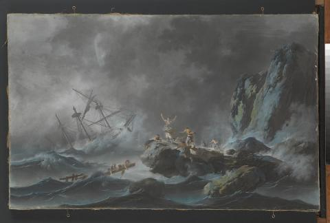 Shipwreck in a storm by Jean PIllement